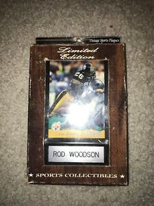 Limited Edition Vintage Sports Plaque Rod Woodson Pittsburgh Steelers