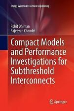 Energy Systems in Electrical Engineering: Compact Models and Performance...