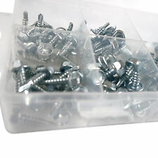 Self Drilling Hex Head Screw set assortment. 120 Zinc Plated Steel Screws