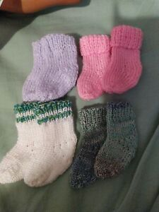 4 pairs hand knitted Sasha Doll Socks