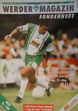 Programm Pokal 1996/97 SV Werder Bremen - Bayer Leverkusen