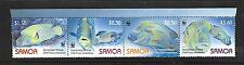 SAMOA Sc 1092 NH ISSUE OF 2006 - STRIP OF 4 - SEA LIFE - FISH