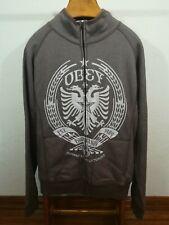 Vintage OBEY Socialist Albania design zipper sweatshirt jacket XL