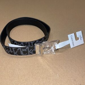 New Calvin Klein Men's Reversible Premium CK Logo 35mm Belt Black Large