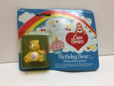 """1982 Care Bears """"Birthday Bear"""" Sitting With A Present In Box By Kenner"""