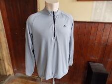 adidas long sleeve zip neck golf shirt size L