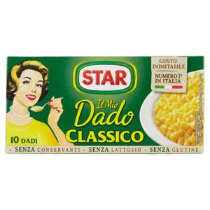 STAR DADO CLASSICO SENZA GLUTINE E LATTOSIO ASTUCCIO 10 DADI PER RISO SUGO BRODO