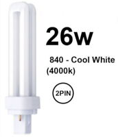 BULB 26W 2P  2 Pin G24d-3 Compact Fluorescent Lightbulb CFL Branded Low Energy