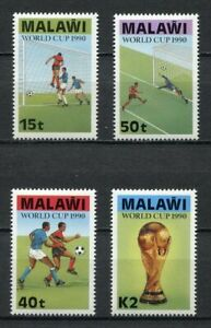 s6410) MALAWI 1990 MNH** WC Football'90 - CM Calcio 4v