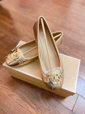 NWB Michael Kors Women's Fulton MK Logo Signature PVC Moccasins Flats Shoes 8.5