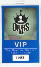 Celine Dion 1998 Vh1 Divas Laminated Beacon Theatre Backstage Vip Pass / Nm 2 Mt