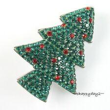 signed Swarovski~ Petite Flavour CHRISTMAS TREE Pin Holiday Brooch~New~ rare