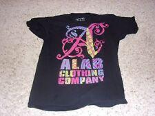 "Mens ""Alab"" Black Short Sleeve T-Shirt Size L"