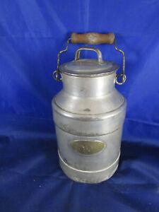 Uralt Milchkanne Krug Deckel Weißblech verzinkt um 1900 Metallwerke LAA Thaya