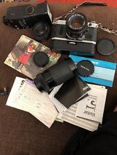 Canon AE-1 35mm Program  Camera 50mm +zoom Lens Flash Winder No Squeak Serviced