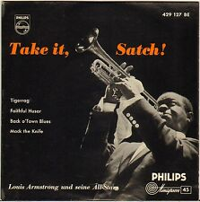 "LOUIS ARMSTRONG ""TIGER RAG / MACK THE KNIFE"" 50'S JAZZ EP PHILIPS 429 127"
