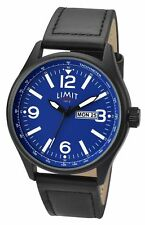 Limit Men's Stainless Steel Blue Dial Day & Date Watch 5622