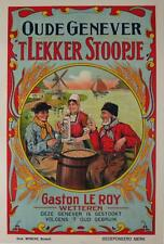 Oude Genever Original Vintage Advertising Poster