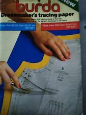 Vintage Burda Carbon Tracing Paper Tailors Dressmaking blue and red,