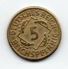 Germany - Duitsland - 5 Pfennig 1924 F