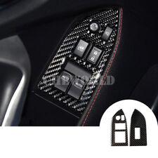 Kohlefaser Innen Tür Armlehne Fenster Schalter Rahmen Blende Für Subaru BRZ