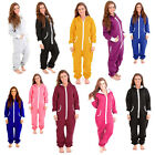 Adult Womens Onesie Non Footed Jumpsuit Zipper Hoodie Playsuit Tracksuit Pajamas