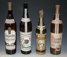 4 x leere GROßE Schauflaschen - Dekoflaschen für Schaufenster um 1960 !?