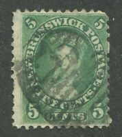 "NEW BRUNSWICK #8 USED ""1"" NUMERAL CANCEL"
