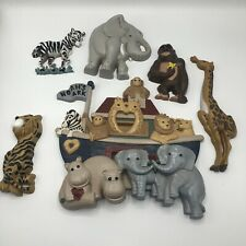 Vintage 1995 Home Interiors Noahs Ark 6 Pieces Total Nursery Decorations