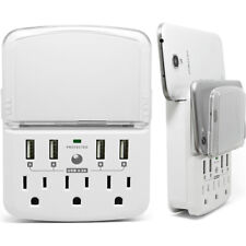 RND Wall Power Station includes 3 AC Plugs and 4 USB ports [4.8A total) wit