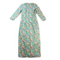 New V.O.K Australia Floral Green Long Length Sleeved Dress Size 8 BNWT NWT