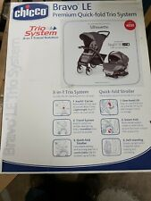 Chicco Bravo Le Trio Travel System Stroller w/ KeyFit 30 Zip Car Seat Silhouette