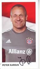 FOOTBALL carte Entraineur équipe féminine PETER KARGUS FC BAYERN MUNICH signée