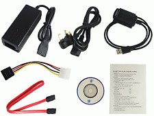 New Full Set Of Cables Adapters To Connect IDE 2.5 3.5 SATA Devices Via USB #274