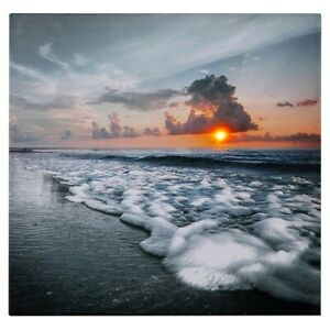LED Light Up  Sunset Ocean Scene Wall Home Decor Canvas Picture Photo Gift Art