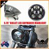 "5.75"" gloss black LED daymaker bullet headlight Harley Sportster dyna softail XL"