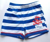 DISNEY BOYS JAKE & THE NEVER LAND PIRATES BLUE WHITE STRIPED SHORTS 12-18 MONTHS