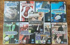 9x sortiert Fußball Sport PC Spiele   Fußball & Championship Manager   Lot