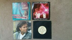 """Cliff Richard - 4 x 7"""" Singles - Shooting From The Heart, Some People + 2 others"""