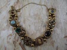 GOLDETTE Vintage Slide Bracelet, Cameo, Ruby, Snake, Dragon, Star, PQ7