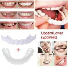 2PCS Pro Snap On Perfect Smile Comfort Fit Flex Teeth Fit Veneers Upper&Bottom Y