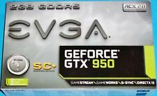 NEW EVGA GEFORCE GTX 950 2GB FTW GAMING, SILENT COOLING GRAPHICS CARD