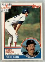 Wade Boggs Boston Red Sox HOF 1983 Rookie Cards through 1999