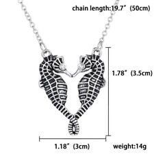 Sweater Chain Pendant Necklace Trendy Lovely Women Lady Double Seahorse Crystal