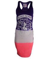 New Womens Sleeveless Superdry Beach Summer Holidays Midi Dress Top Beachwear