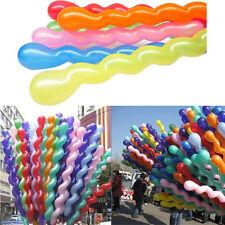 10X  Mixed Spiral Latex Balloons Wedding Kids Birthday Party Anniversary Decor R