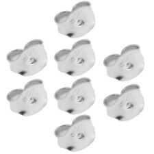 8x 925 Sterling Silver Earring Friction Security Backs Scrolls Ear Nuts Findings