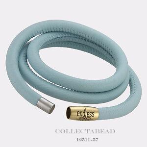 "Authentic Endless Rose Gold Plated Light Blue Triple Bracelet 7.5"" 12711-57"