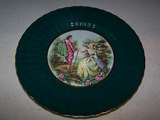 BEAUTIFUL WADE ENGLAND SIGNED VICTORIAN SCENE WALL PLATE ROYAL VICTORIA POTTERY