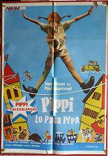 PIPPI LONGSTOCKING ON THE RUN movie poster 1975 Spanish PIPPI LANGSTRUMP LOVELY!